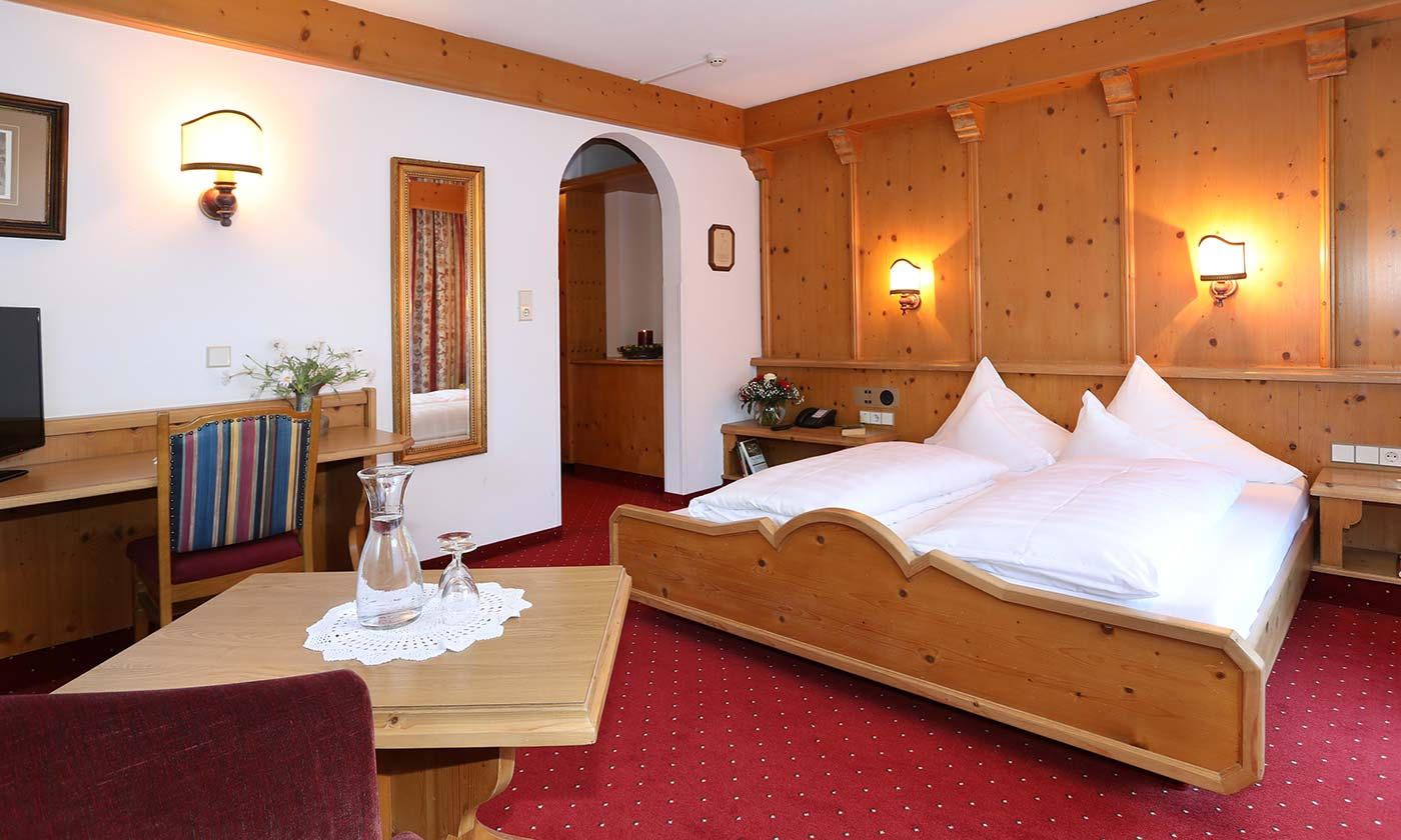 Double room Hotel Almhof Four-star hotel in Neustift Milders Stubai Tyrol Austria