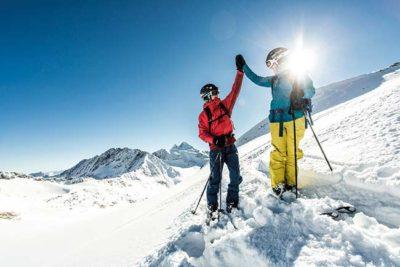 Frühling Skiurlaub am Stubaier Gletscher Hotel Almhof Danler Hotel in Neustift Stubaital Tirol