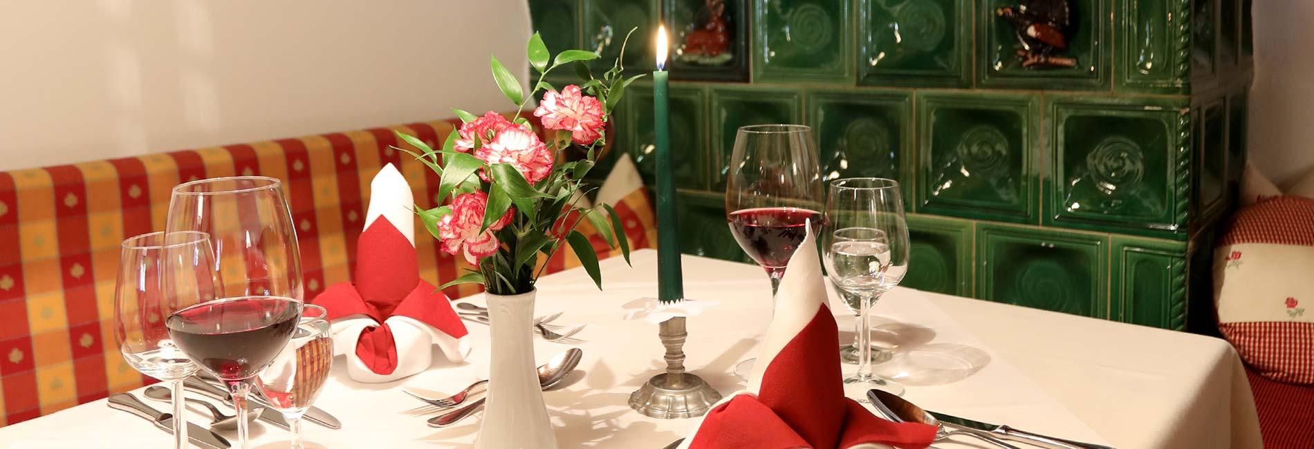 Kulinarium im Hotel Almhof in Neustift im Stubaital in Tirol