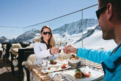 Sun skiing Hotel Almhof Danler Hotel in Neustift Tyrol Austria