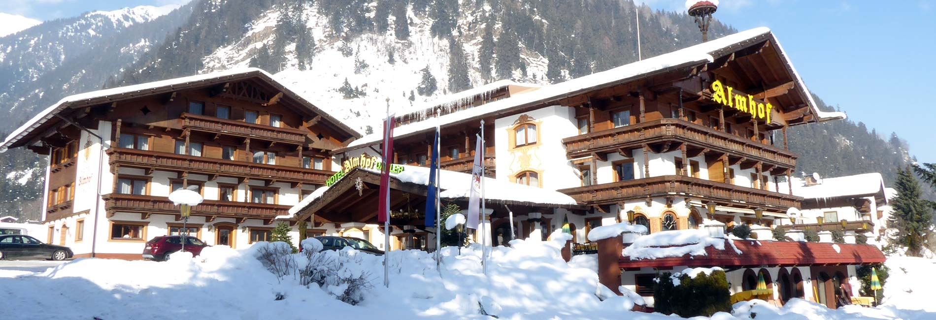 Hotel Almhof Winterurlaub im Stubaital in Tirol Austria